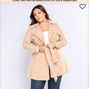 Fashion Nova Trench Coat 3x NWT